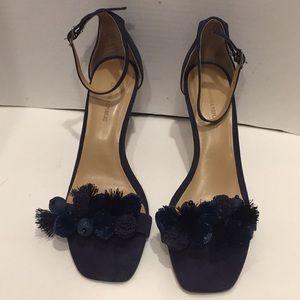 Banana Republic Shoes - Banana Republic Pom Pom Heels